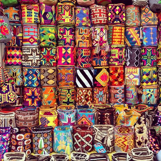 Wayuu bags Cartagena de Indias Colombia  #bags #colorful #colombia #cartagena photo