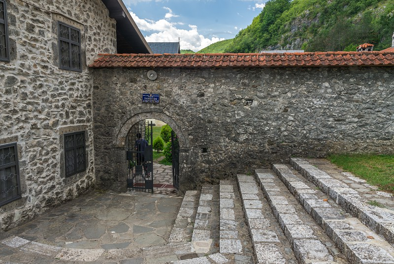 Kolasin Montenegro - 07.16.2018.  Orthodox monastery Moraca. One of the most popular places to visit tourists  in Montenegro. photo