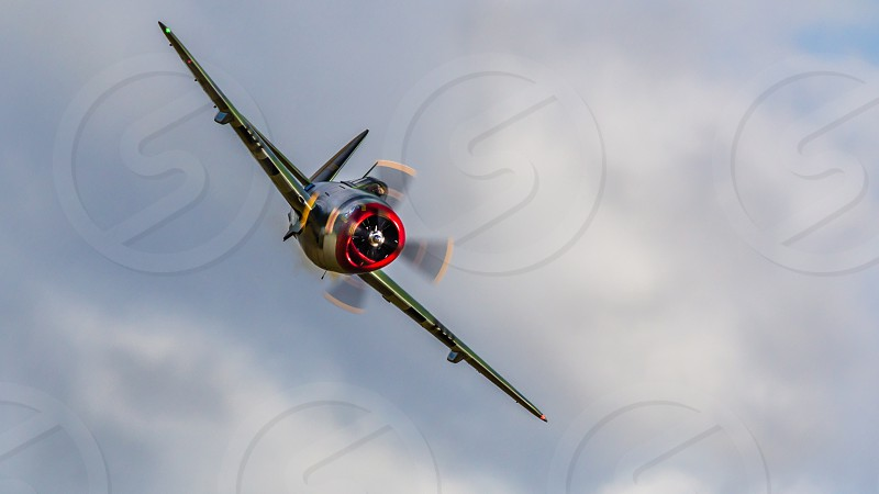 P47 Thunderbolt in action airplane aeroplane fighter aircraft flight warplane photo