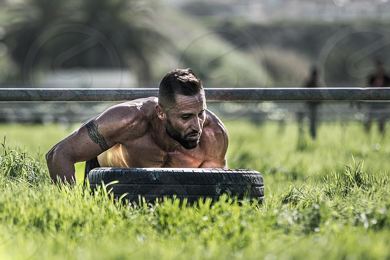 Sport ocr obstacle ground streng  photo