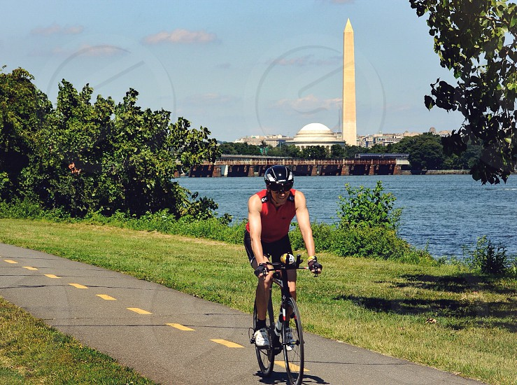 Washington Monument and Jefferson Memorial photo