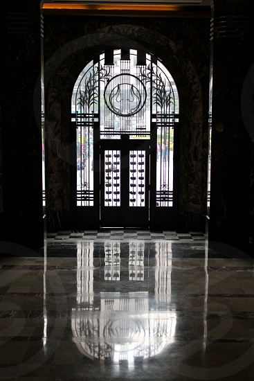 Door Reflection Marble floor Antique photo