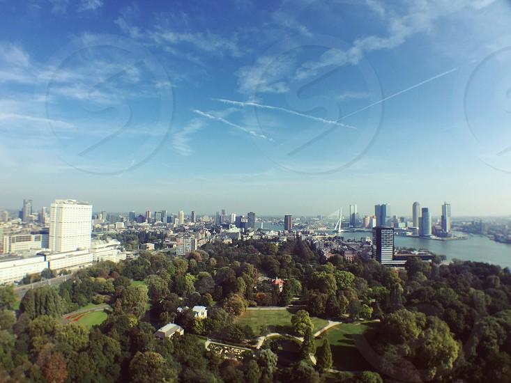 Rotterdam city view photo