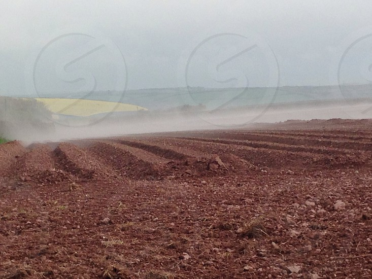 Low mist over furrows photo