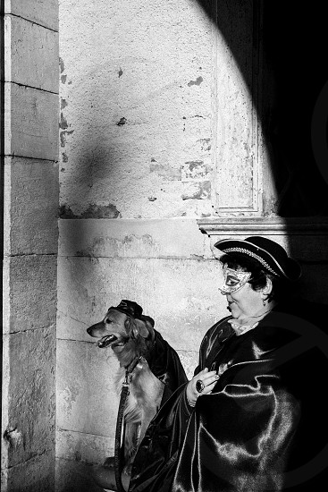 Portrait in Venice carnival Italy Europe photo