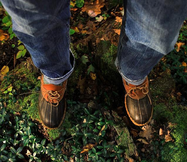 black and tan mens rain shoes photo