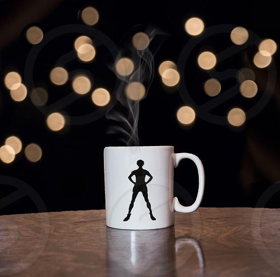 peter pan coffee cup coffee mug warm steam hot drink fairy tale fairy lost boy photo