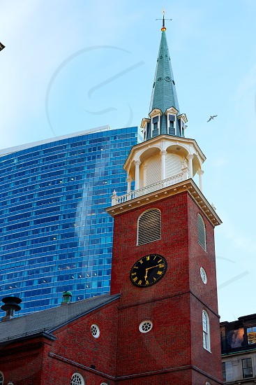 Boston Old South Meeting House building in Massachusetts USA photo