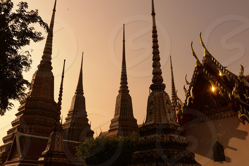 the temple of Wat Pho in the city of Bangkok in Thailand in Southeastasia. photo