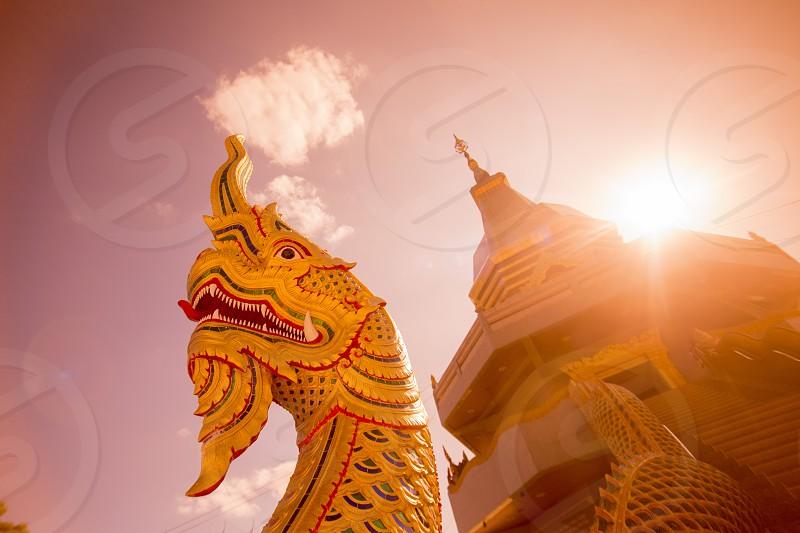 the wat phothisomphon in the city of Udon Thani in the Isan in Northeast Thailand. photo