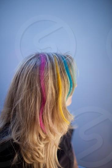 Hair color Dye Punk rainbow photo
