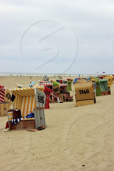 Beach Scene in Germany photo