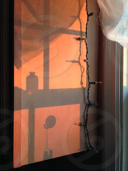Inside shadows at sunset photo