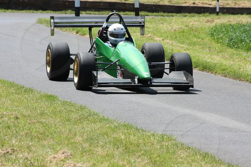 Gurston down hill climb corner race car car hill climb car corner track photo