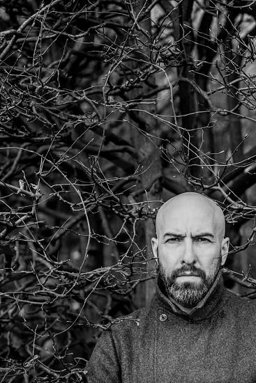 Portrait of bald man photo