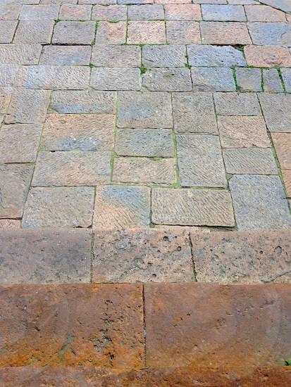 stone flooring outdoors photo