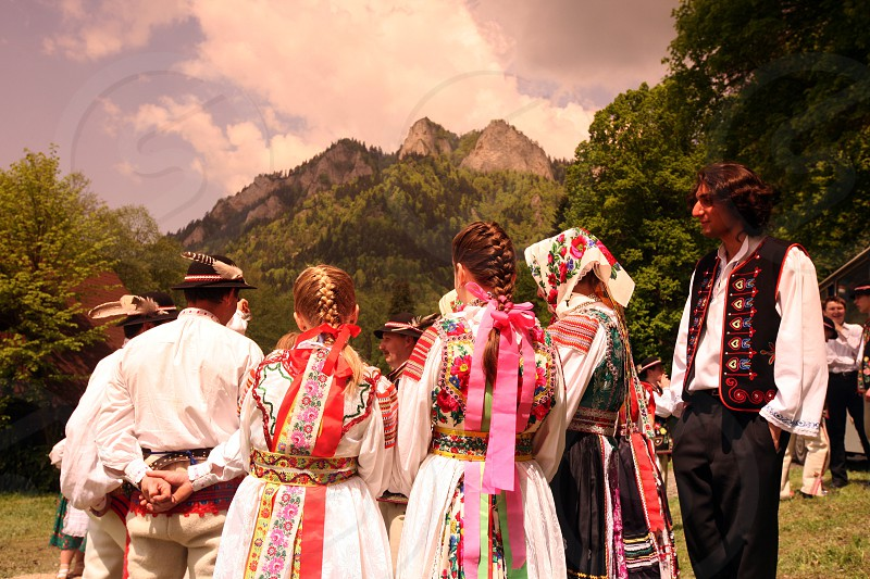 a traditional Folk Festival in the town of Cerveny Klastor in Slovakia in east europe. photo
