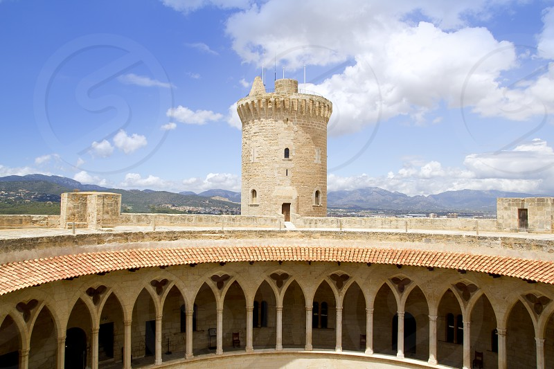 Bellver Castle Castillo tower in Majorca at Palma de Mallorca Balearic Islands photo