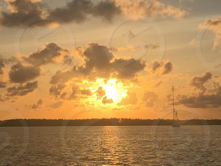 Florida keys sunset sailboat photo