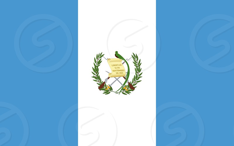 Official Large Flat Flag of Guatemala Horizontal photo