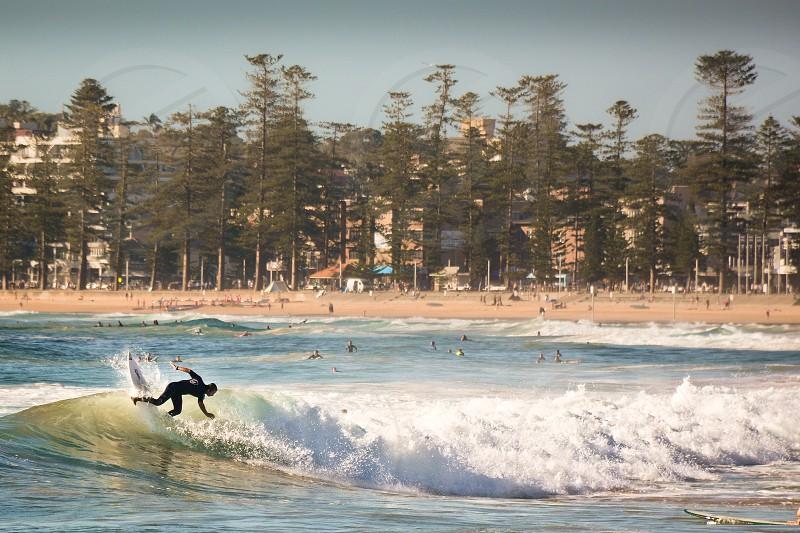 beach surf sunbake sand sun sport whitewash photo