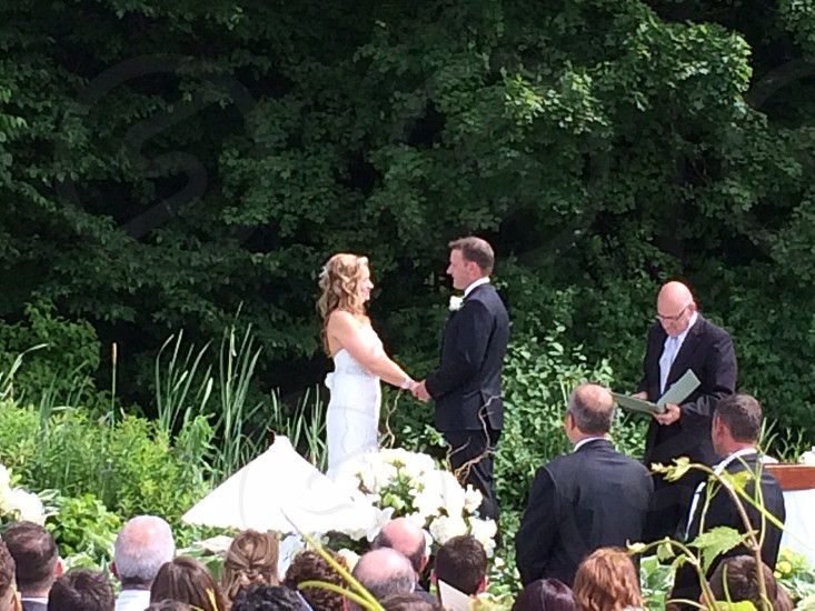 man and woman on a wedding ceremony photo