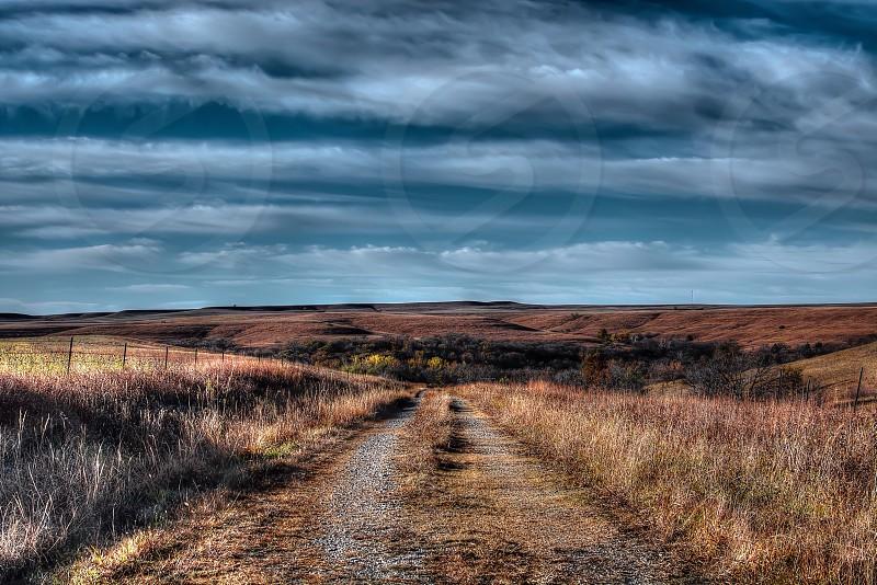 A gorgeous tallgrass pasture in the Flint Hills of Kansas. photo