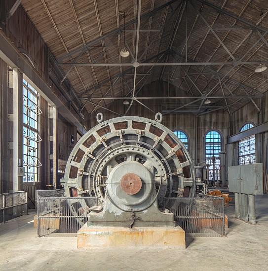 Forgotten abandoned machine windows equipment  photo