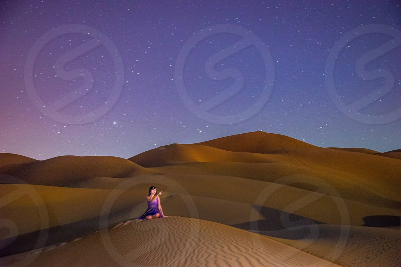 Desert and stars photo