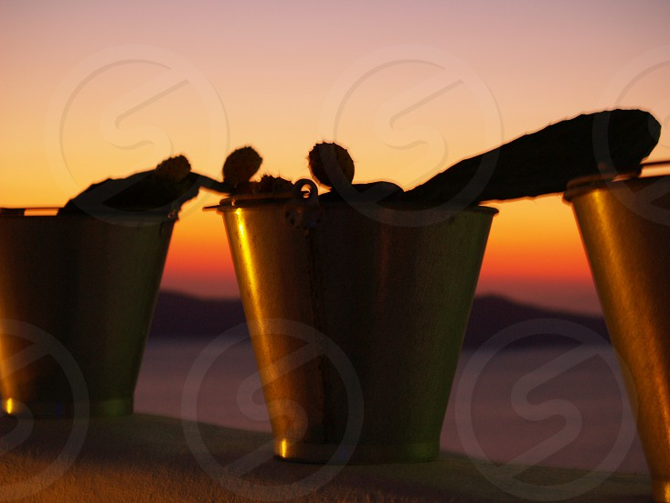 Sunset in Santorini photo