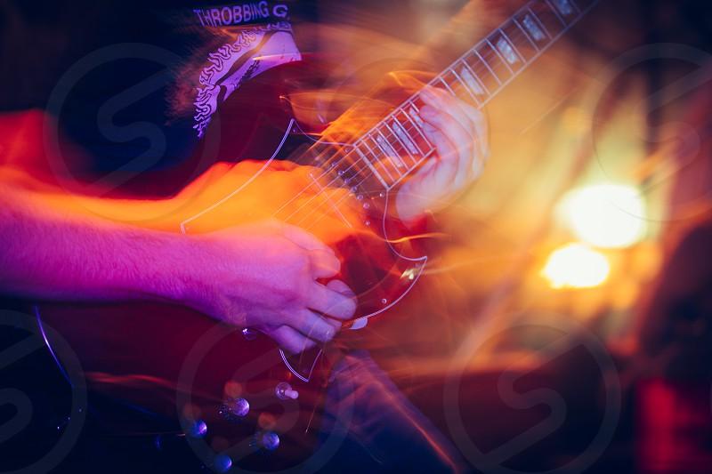 friday night band guitar concert long exposure flash photo