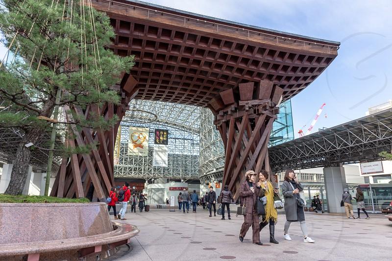 Kanazawa Station. Kanazawa City Ishikawa Prefecture Japan photo