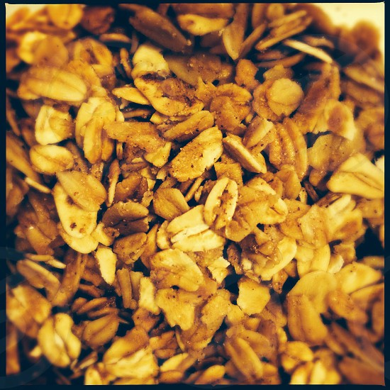Granola - close up photo