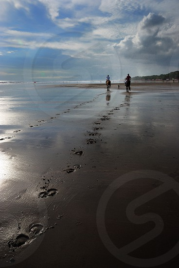 enjoy the beach in Bali photo