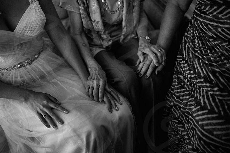 Hands generations wedding grandma grandmother  photo