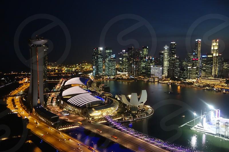 Singapore at night. photo