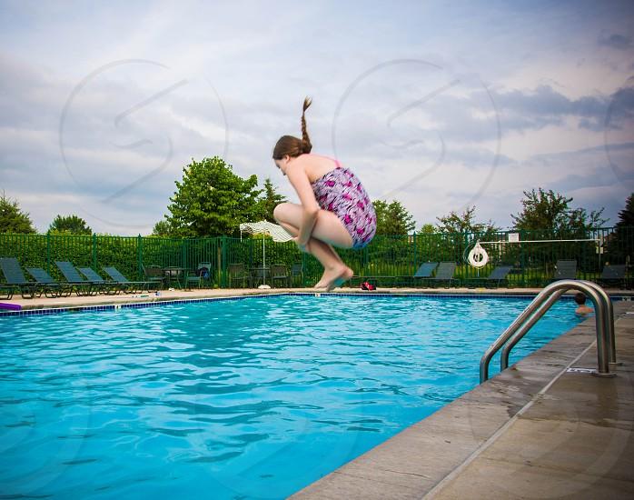 cannon ball swimming photo