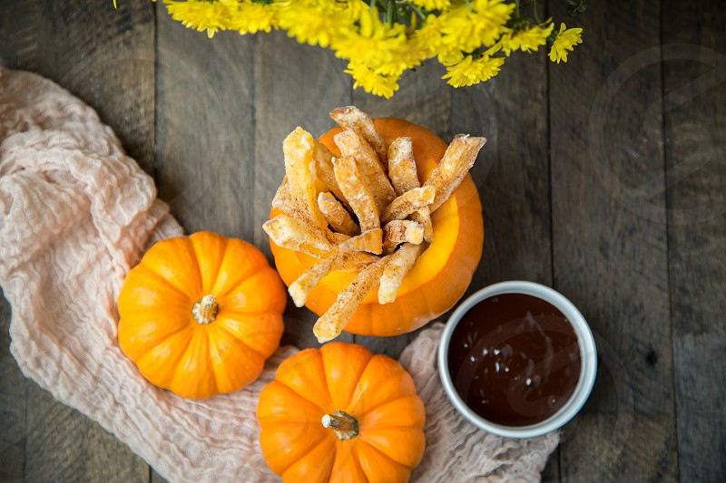 Pumpkin Spiced French Fries with Chocolate Dip photo