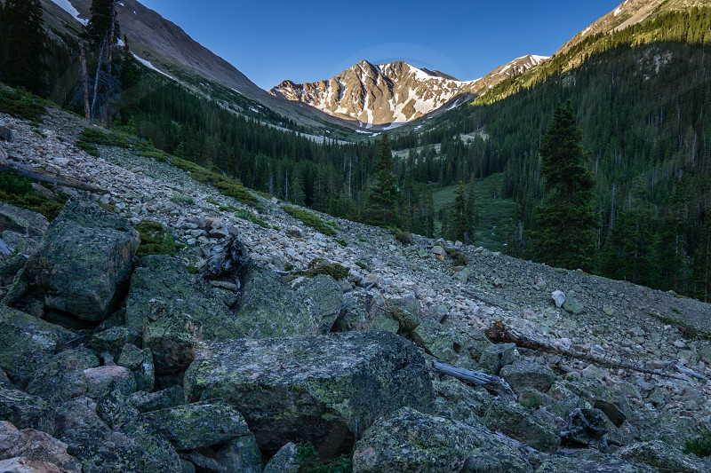 Sunrise on La Plata Peak in Colorado photo