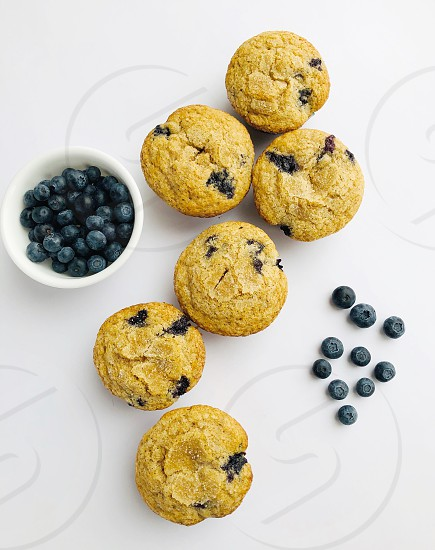 Healthy blueberry muffins food bread berries healthy photo