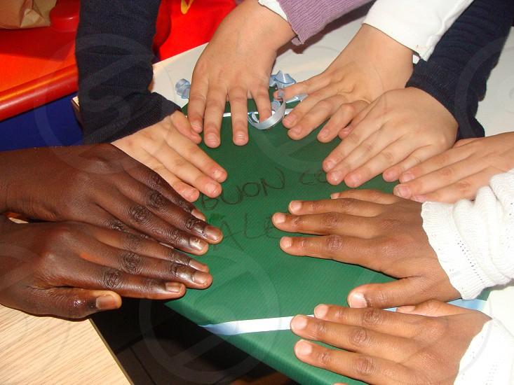 hands on table photo