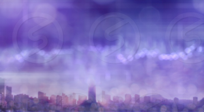 Background of digital cityscape concept: Abstract blurred aerial view ultra violet colors photo