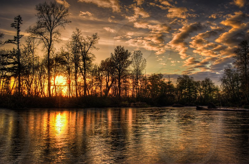 Landscape Sunset river photo