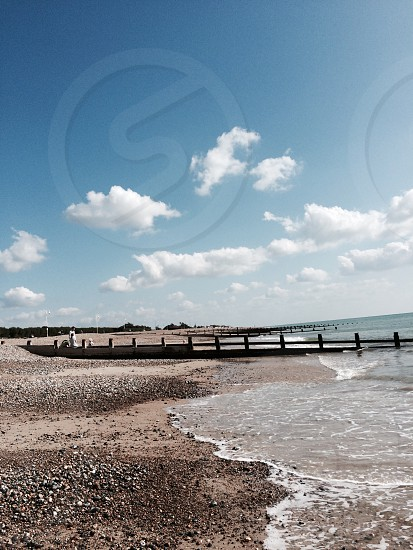 South of England shoreline Worthing photo