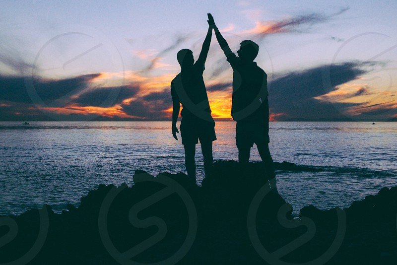 High Five for Beautiful Sunsets photo