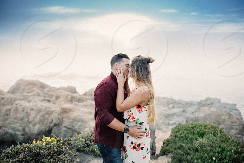 Engagement session I took in Big Sur CA  photo