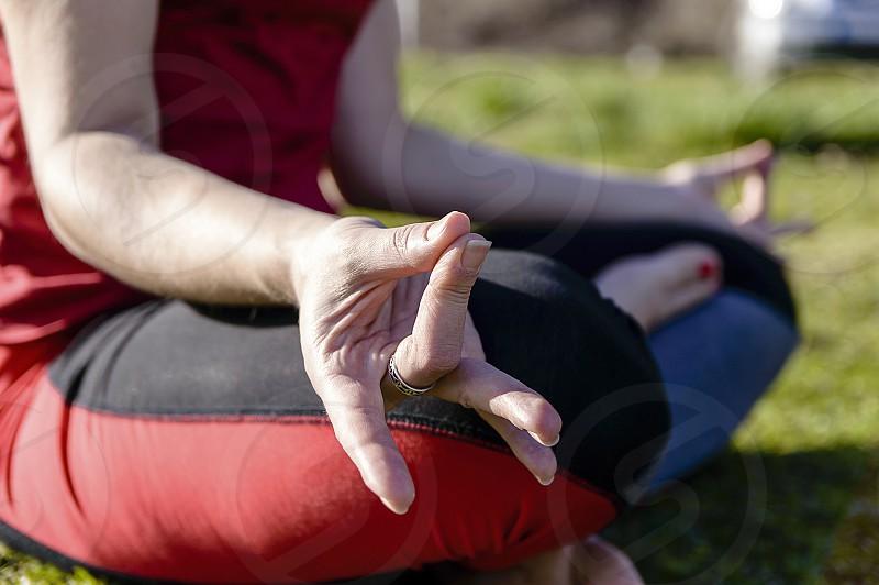 Spirituality yoga focus photo