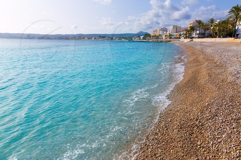 Javea Xabia Playa La Grava beach in Alicante mediterranean Spain photo