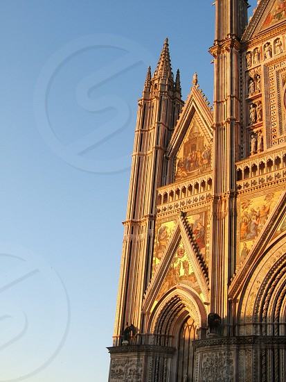 The cathedral in Orvieto Italy photo