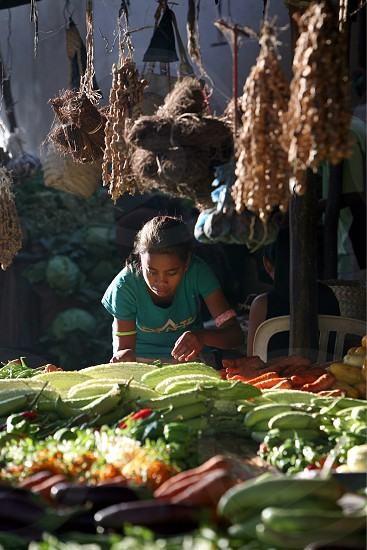 people at the Market in the city of Dili in the east of East Timor in southeastasia.
